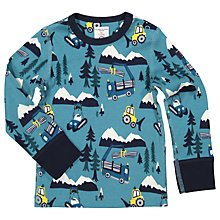 Buy Polarn O. Pyret Baby Winter Scene Top, Blue Online at johnlewis.com