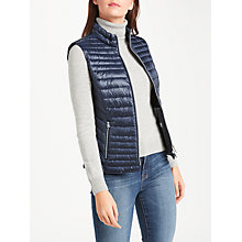 Buy Gerry Weber Padded Down Filled Gilet, Navy Online at johnlewis.com