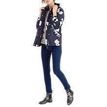 Buy Joules Right as Rain Coast Printed Waterproof Jacket, Navy Poppy Online at johnlewis.com