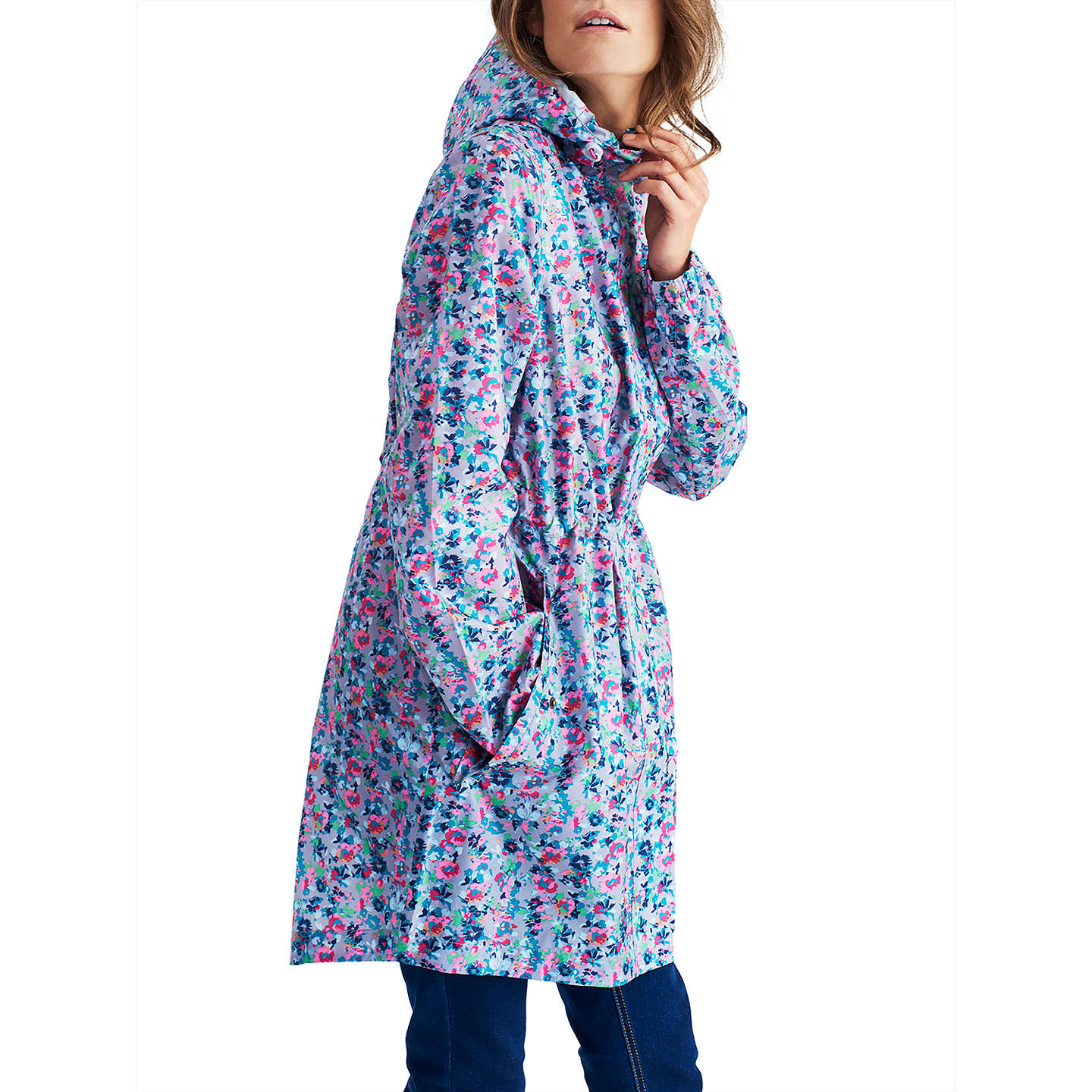 BuyJoules Right as Rain Golightly Pack Away Waterproof Parka, Grey Garden Ditsy, 14 Online at johnlewis.com