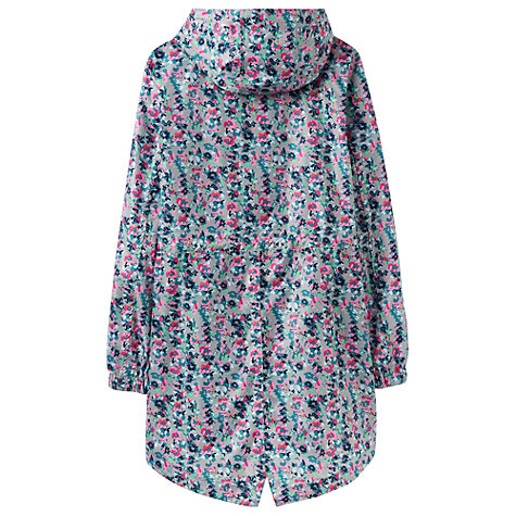 Buy Joules Right as Rain Golightly Pack Away Waterproof Parka, Grey Garden Ditsy Online at johnlewis.com