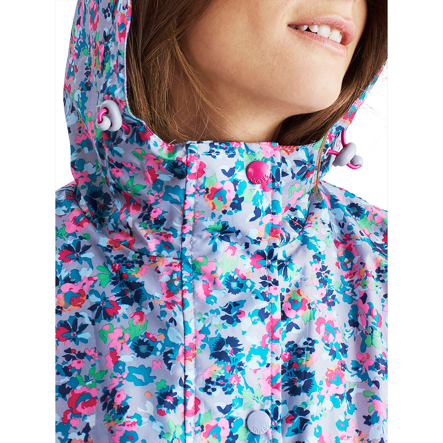 BuyJoules Right as Rain Golightly Pack Away Waterproof Parka, Grey Garden Ditsy, 8 Online at johnlewis.com