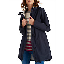 Buy Joules Right as Rain Westport Hooded Raincoat, Marine Navy Online at johnlewis.com