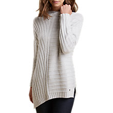 Buy Barbour Annfield Asymmetric Jumper, Ice White Online at johnlewis.com
