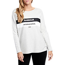Buy Barbour International Pathhead Sweatshirt, Pale Grey Marl Online at johnlewis.com