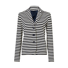 Buy Weekend MaxMara Agro Stripe Jersey Jacket, Ultramarine Online at johnlewis.com