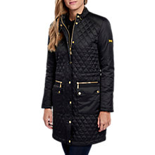 Buy Barbour International Port Gower Quilted Jacket, Black Online at johnlewis.com