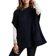 Buy Barbour Blanchland Poncho, Navy Online at johnlewis.com