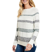 Buy Barbour Faeroe Stripe Jumper, Cloud Online at johnlewis.com