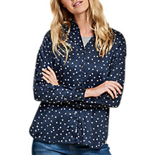 Buy Barbour Faeroe Beacon Spot Print Shirt, Navy/White Online at johnlewis.com