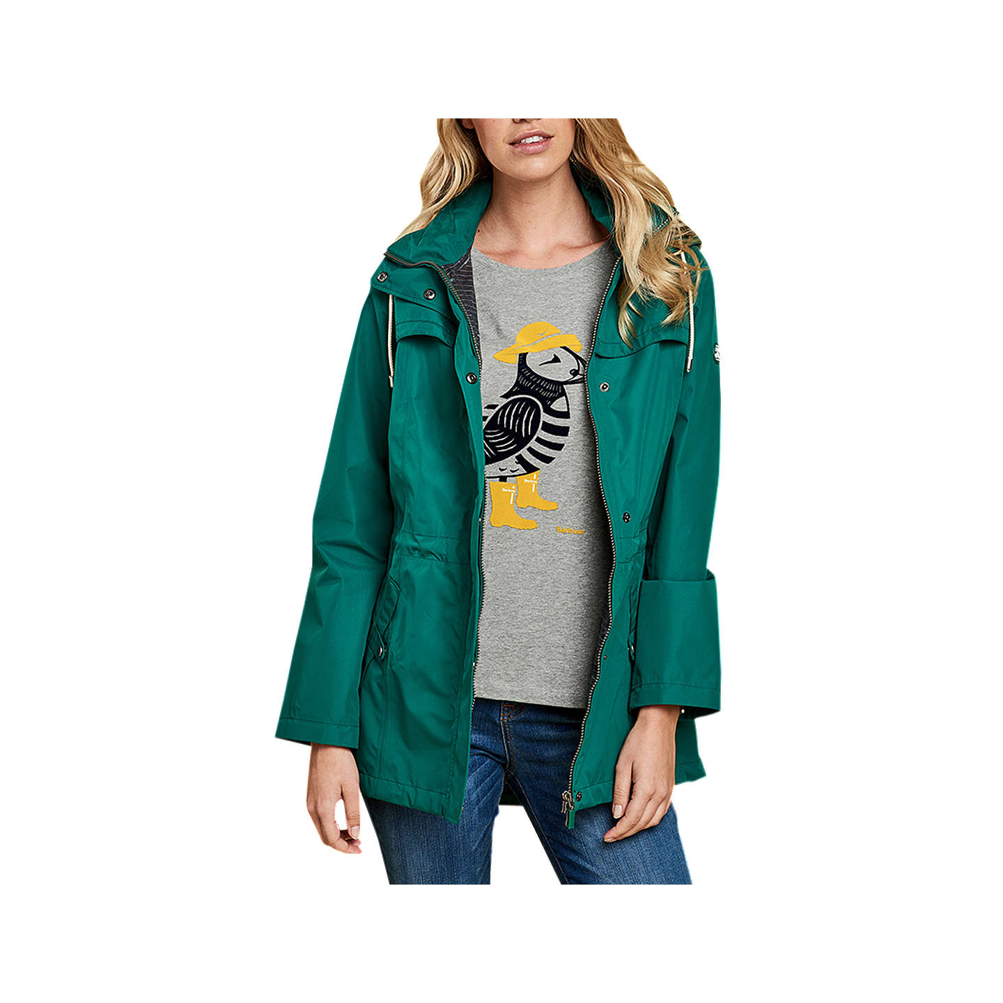 BuyBarbour Hanover Waterproof Jacket, Evergreen, 8 Online at johnlewis.com