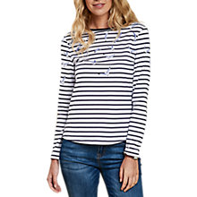 Buy Barbour Faeroe Seagull Print Top, White/Navy Online at johnlewis.com