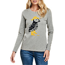 Buy Barbour Faeroe Puffin T-Shirt, Light Grey Marl Online at johnlewis.com