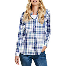 Buy Barbour Selsey Check Shirt, White/Coastal Blue Online at johnlewis.com