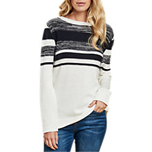Buy Barbour Selsey Stripe Jumper, Cloud Online at johnlewis.com