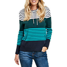 Buy Barbour Tayport Stripe Sweatshirt, White/Green Online at johnlewis.com