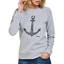 Buy Barbour Wester Anchor Sweatshirt, Grey Marl Online at johnlewis.com