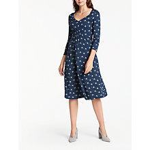 Buy Weekend MaxMara Klausen Bow Detail Jersey Dress, Ultramarine Online at johnlewis.com