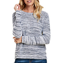 Buy Barbour Tayport Space Dye Jumper, Cloud/Navy Online at johnlewis.com