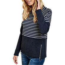 Buy Barbour Seaburn Stripe Sweatshirt, Navy/Grey Online at johnlewis.com
