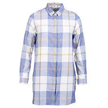 Buy Barbour Wester Long Check Shirt, Blue Marl Online at johnlewis.com