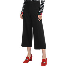 Buy Whistles Ponte Wide Leg Cropped Trousers, Black Online at johnlewis.com