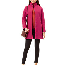Buy Hobbs Harwood Long Sleeve Coat, Bright Pink Online at johnlewis.com