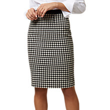 Buy Hobbs Arianna Pencil Skirt, Black/Ivory Online at johnlewis.com