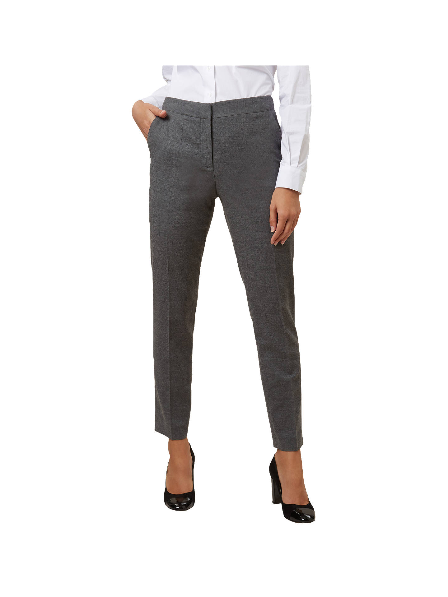 BuyHobbs Gael Tailored Trousers, Grey, 18 Online at johnlewis.com