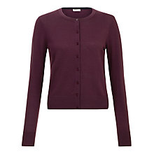 Buy Hobbs Marley Cardigan, Burgundy Online at johnlewis.com