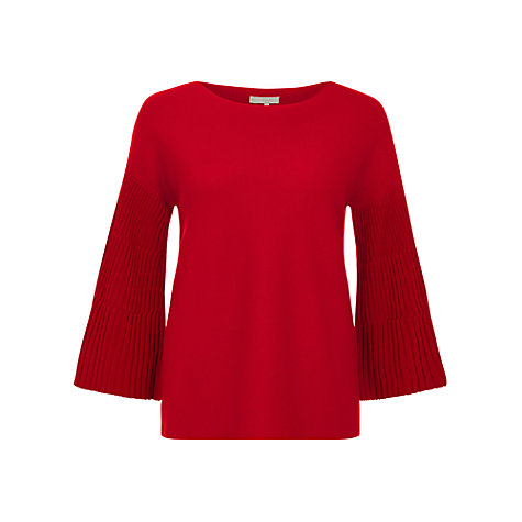 Buy Hobbs Betty Jumper, Highland Red Online at johnlewis.com