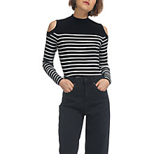 Buy Whistles Cold Shoulder Button Sweater Online at johnlewis.com