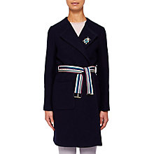 Buy Ted Baker Colour By Numbers Nattaa Wool Wrap Coat, Navy Online at johnlewis.com