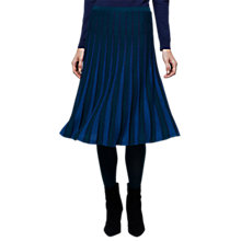 Buy East Merino Pleat Stripe Skirt, Ink Online at johnlewis.com