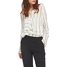 Buy Whistles Sophiana Stripe Blouse, Ivory Online at johnlewis.com