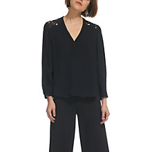 Buy Whistles Elodie Lace Top, Black Online at johnlewis.com
