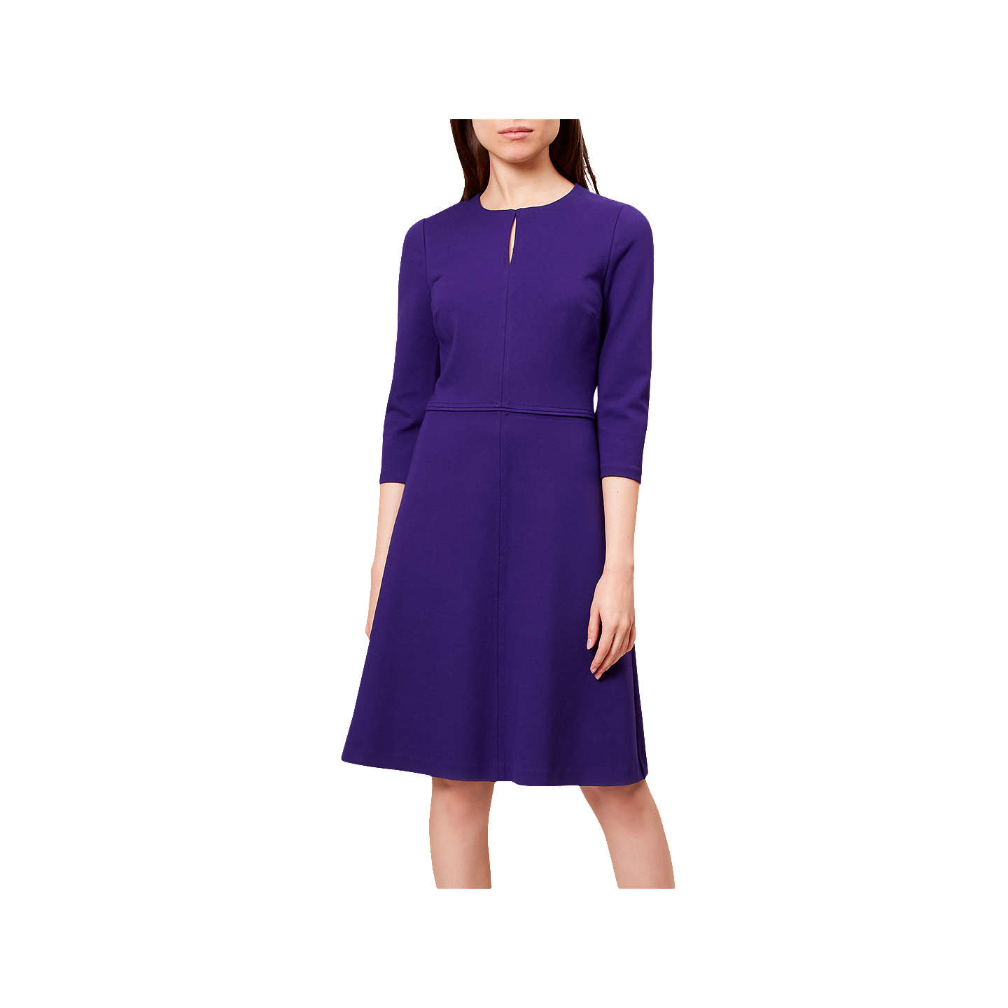 Hobbs Anais Dress, Royal Purple at John Lewis