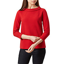 Buy Hobbs Freya Top, Sterling Red Online at johnlewis.com