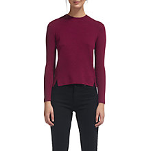 Buy Whistles Grown On Neck Knit Jumper, Pink Online at johnlewis.com