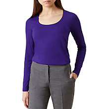 Buy Hobbs Daisy Top, Royal Purple Online at johnlewis.com