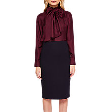 Buy Ted Baker Jensah Neck Tie Bodycon Dress, Bordeaux/Midnight Blue Online at johnlewis.com