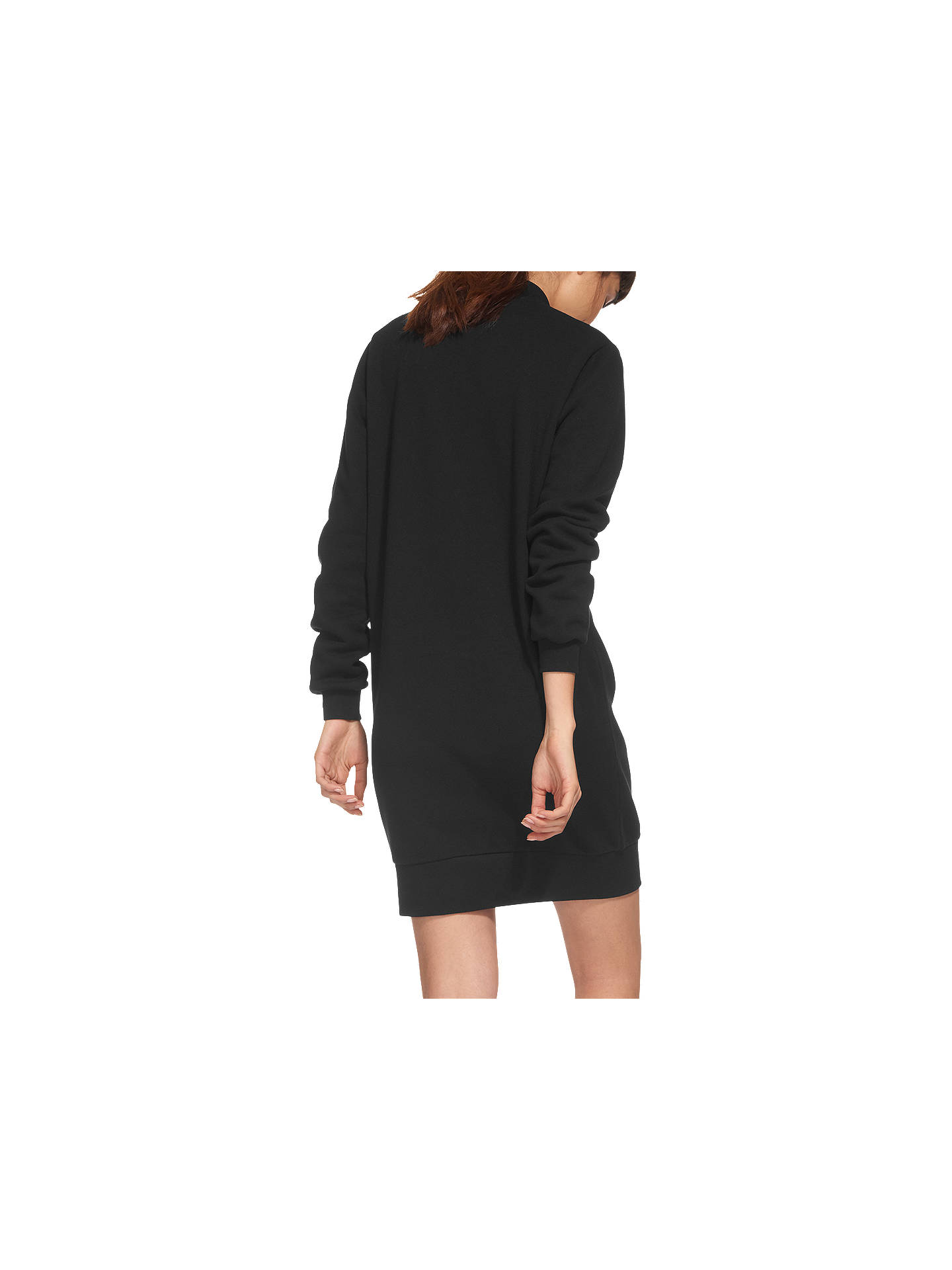 a7323ab3e6d1cb ... Buy Whistles Zip Ribbed Neck Jersey Dress, Black, XS Online at  johnlewis.com ...