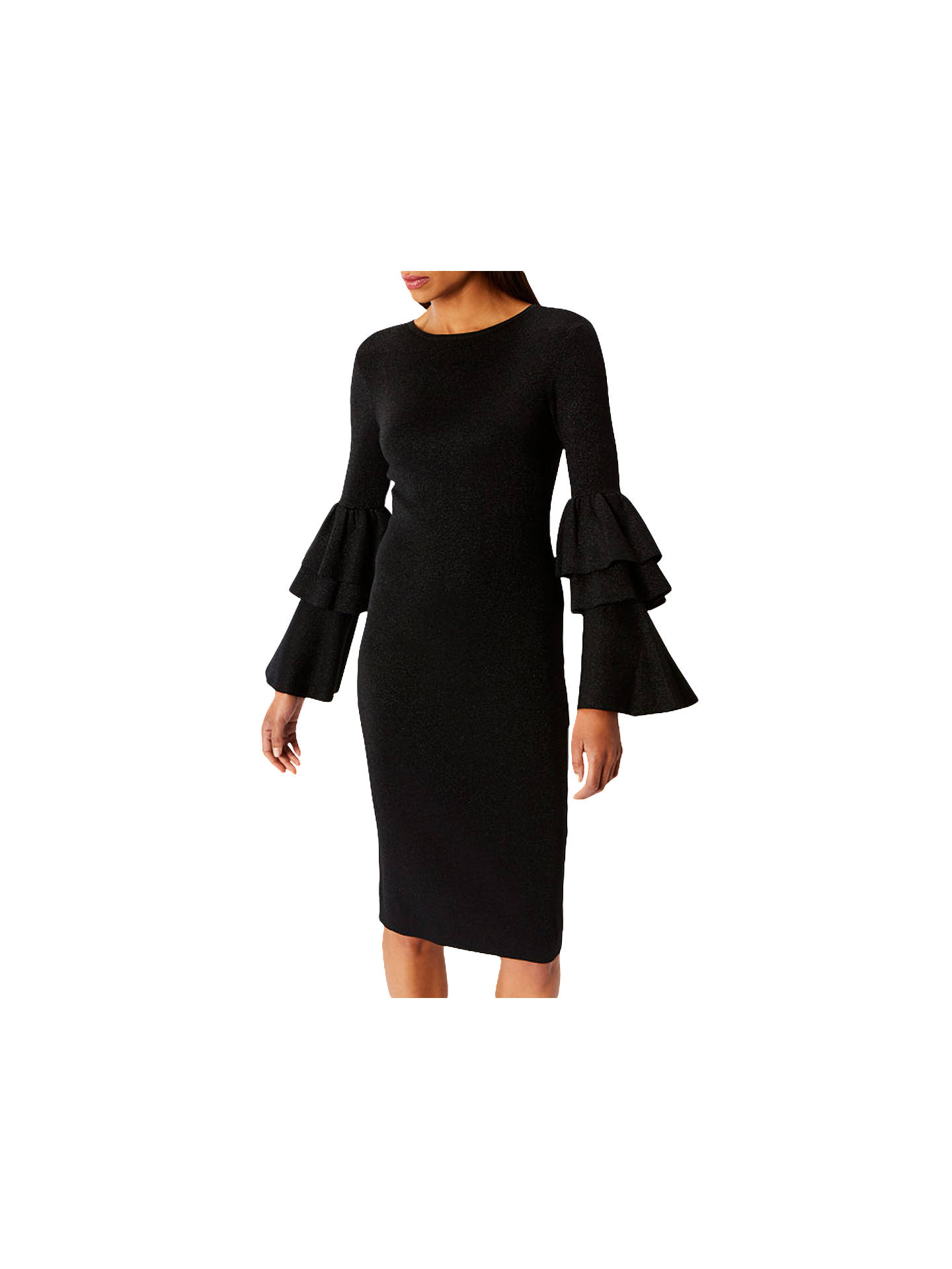 BuyCoast Alessa Sparkle Knit Dress, Black, 6 Online at johnlewis.com