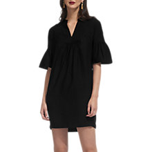 Buy Whistles Luella Fluted Sleeve Dress, Black Online at johnlewis.com