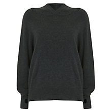 Buy Hygge by Mint Velvet Cashmere Hooded Batwing Jumper, Grey Online at johnlewis.com
