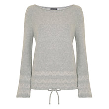 Buy Hygge by Mint Velvet Fair Isle Bell Sleeve Knit Jumper, Light Grey Online at johnlewis.com
