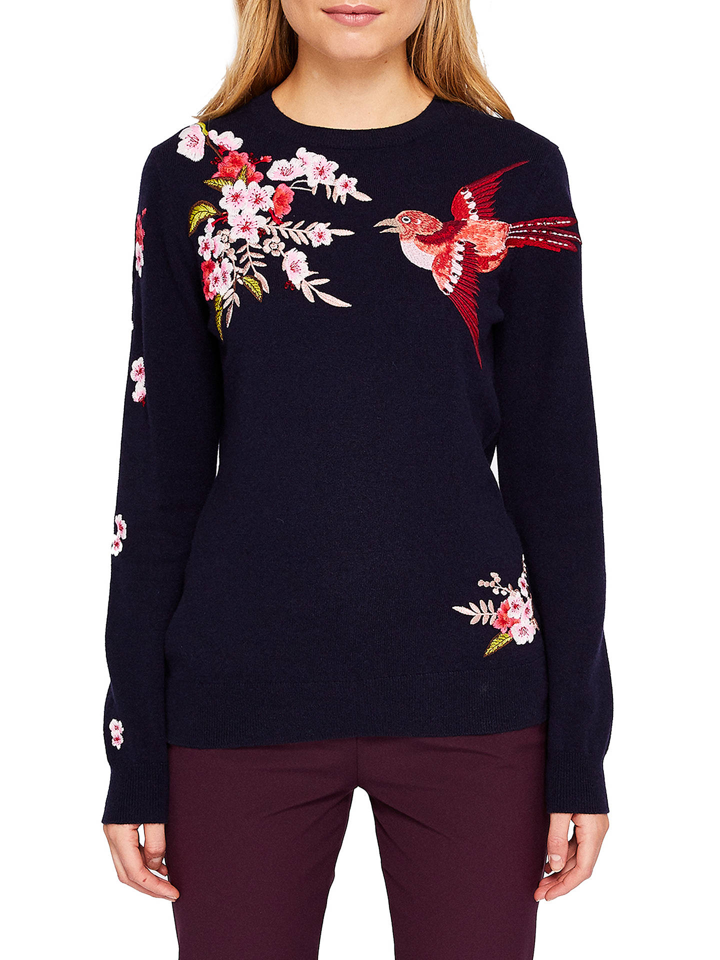 9cd6de390 Buy Ted Baker Auroraa Bird Blossom Embroidered Jumper