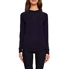 Buy Ted Baker Amrylis Stardust Jumper, Dark Blue Online at johnlewis.com