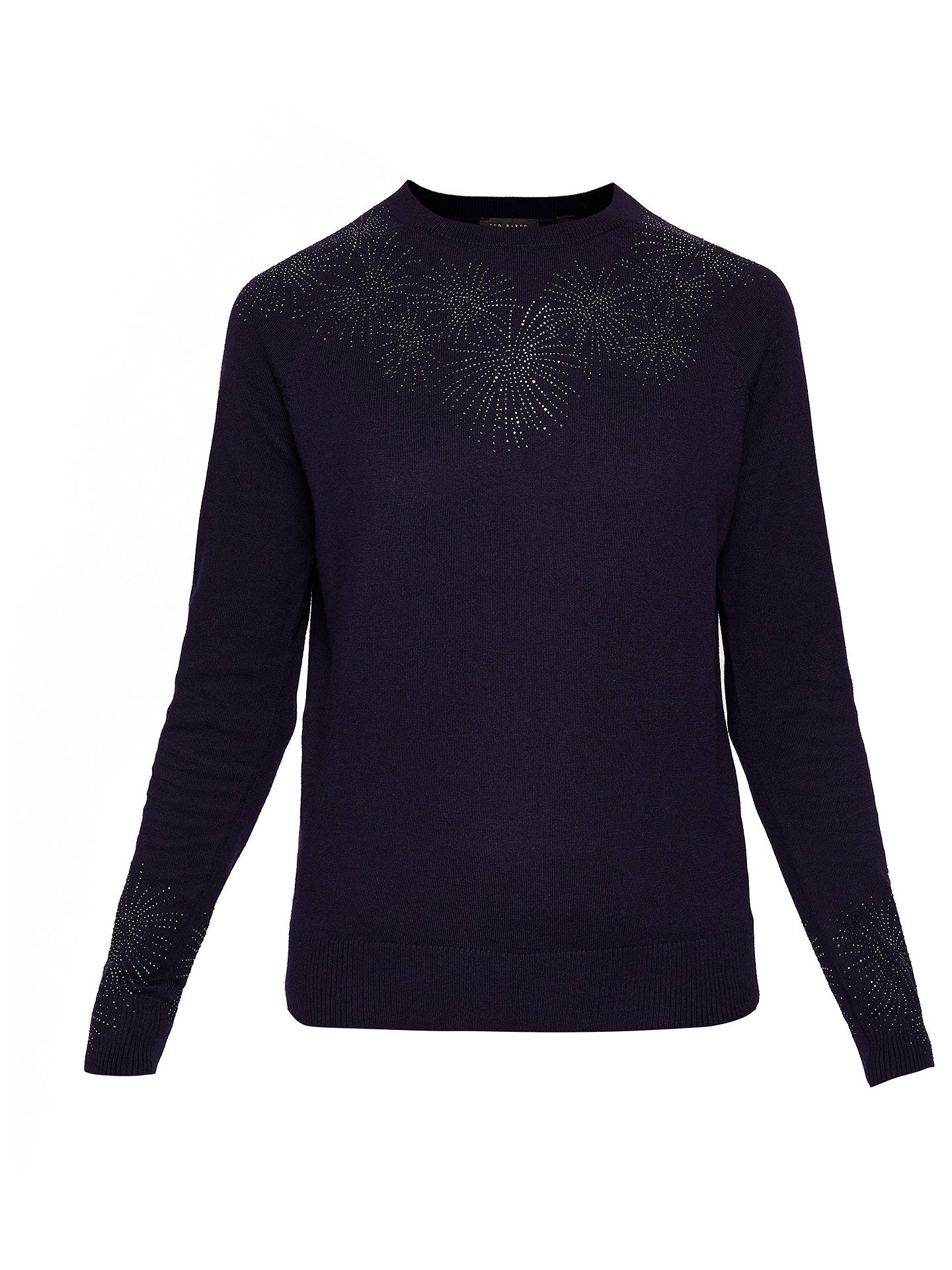 BuyTed Baker Amrylis Stardust Jumper, Dark Blue, 0 Online at johnlewis.com