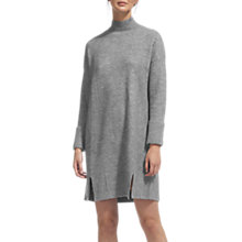 Buy Whistles Funnel Neck Casual Knit Dress, Grey Marl Online at johnlewis.com